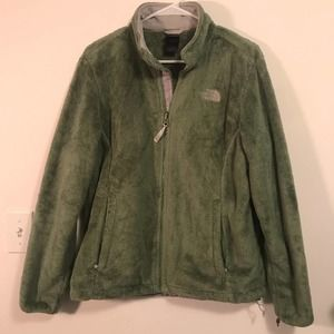 The North Face Womens Green Osito Fleece Zip Up Jacket L
